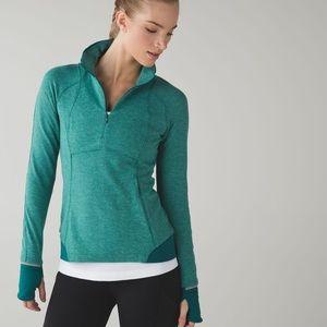 Lululemon running green  pullover size 6
